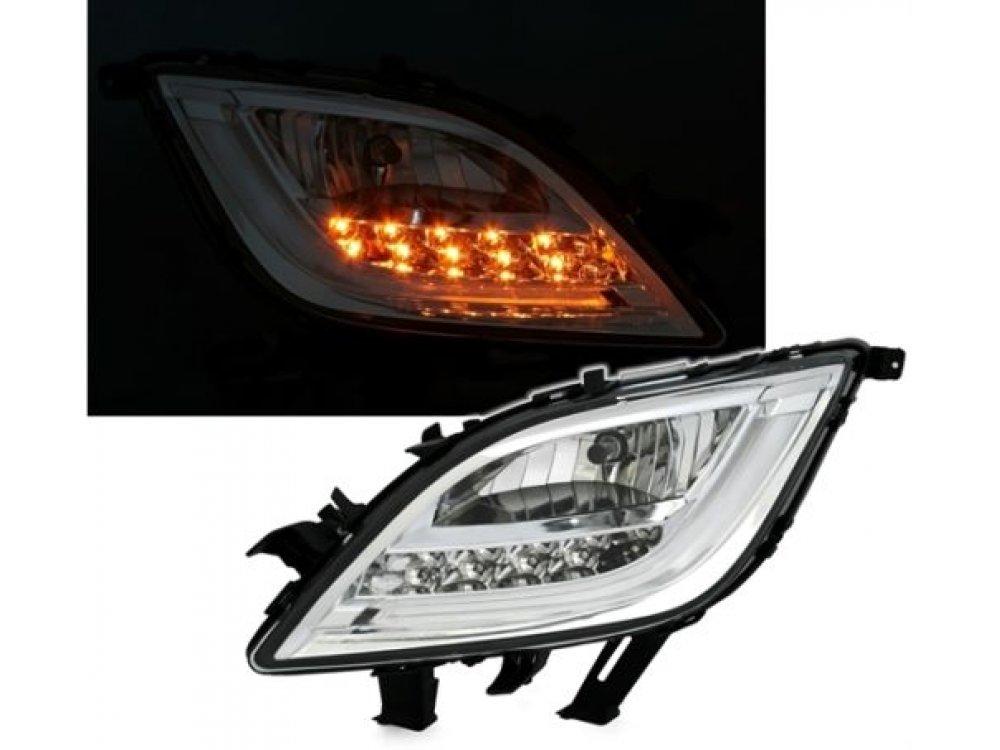 Альтернативные ПТФ LED Chrome от CarID на Opel Astra J