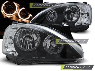 Передняя альтернативная оптика Angel Eyes Black Var2 от Tuning-Tec на Opel Corsa C