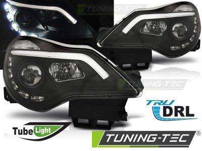 Передние фары DevilEyes Black от Tuning-Tec на Opel Corsa D рестайл