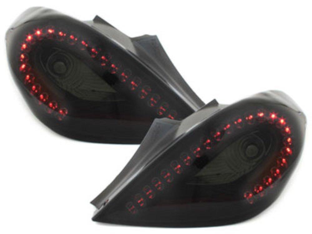 Задние фонари Litec LED Black Smoke на Opel Corsa D