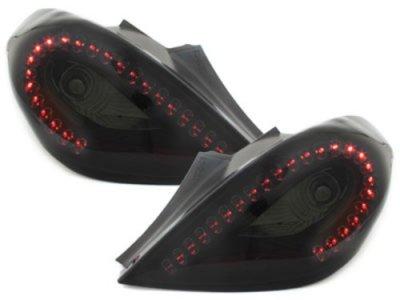 Задние тюнинговые фонари Litec LED Black Smoke на Opel Corsa D