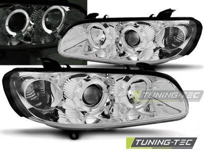 Фары передние LED Angel Eyes Chrome от Tuning-Tec на Opel Omega B