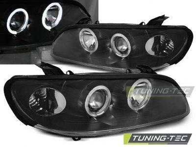 Фары передние LED Angel Eyes Black от Tuning-Tec на Opel Omega B