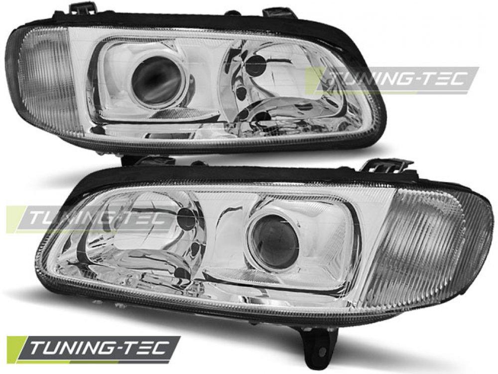 Фары передние Chrome от Tuning-Tec на Opel Omega B