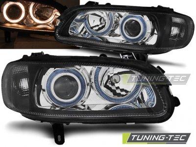 Фары передние Angel Eyes Black от Tuning-Tec на Opel Omega B