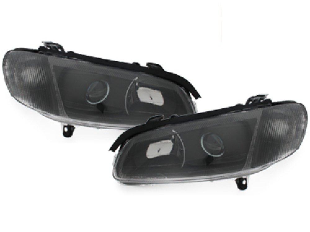 Фары передние Black на Opel Omega B