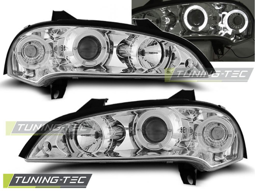 Фары передние Angel Eyes от Tuning-Tec Black на Opel Tigra B