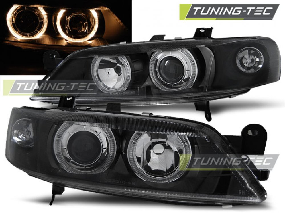 Фары передние Angel Eyes Black от Tuning-Tec на Opel Vectra B рестайл