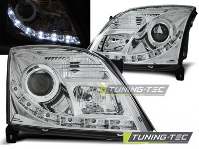 Передние фары Daylight Chrome от Tuning-Tec на Opel Vectra C