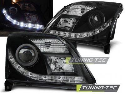 Передние фары Daylight Black от Tuning-Tec на Opel Vectra C