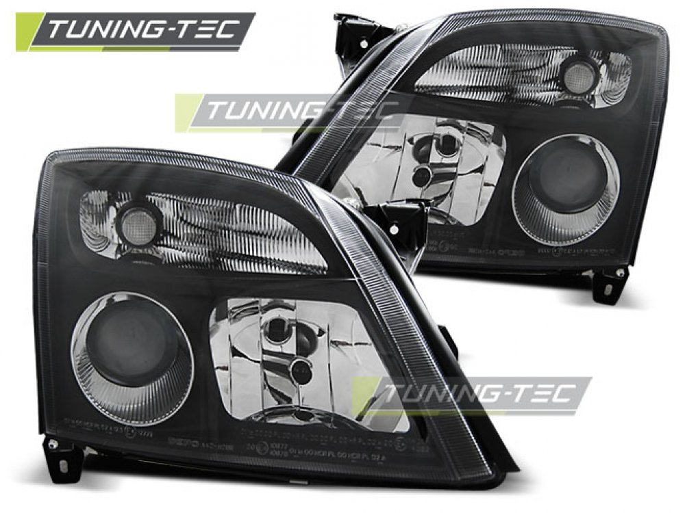 Фары передние Black от Tuning-Tec на Opel Vectra C