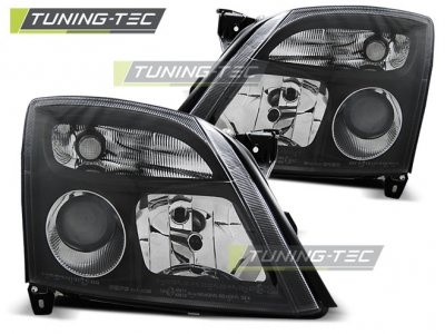 Передняя альтернативная оптика Black от Tuning-Tec на Opel Vectra C