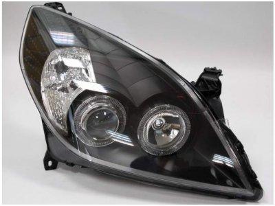 Передние фары Angel Eyes Black от HD на Opel Vectra C рестайл