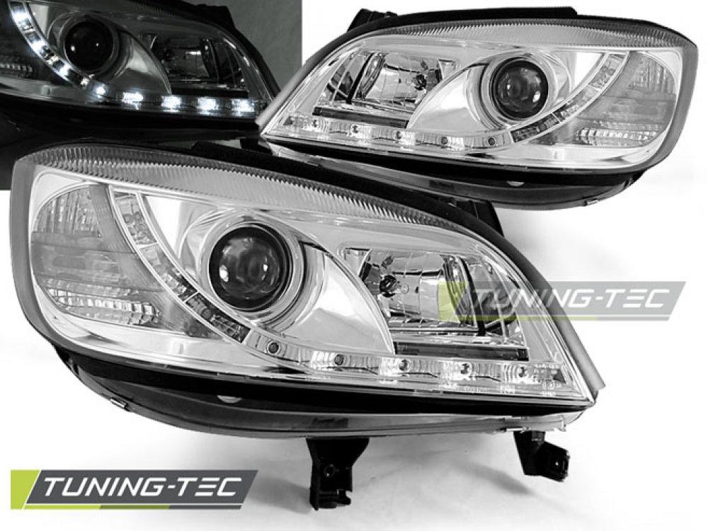Передние фары Daylight Chrome от Tuning-Tec на Opel Zafira A