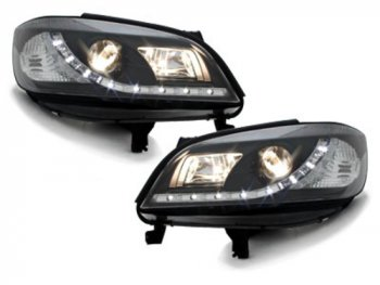 Передняя альтернативная оптика Dayline Black от Dectane на Opel Zafira A