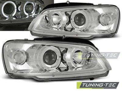 Фары передние Angel Eyes Chrome от Tuning-Tec на Peugeot 106