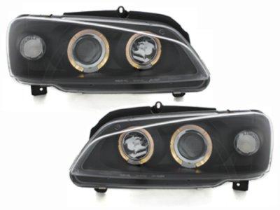 Фары передние Angel Eyes Black на Peugeot 106