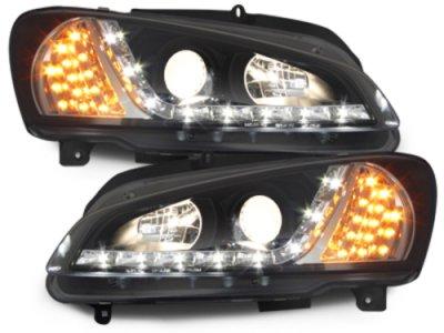 Фары передние LED Dayline Black на Peugeot 106