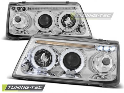 Фары передние LED Angel Eyes Chrome от Tuning-Tec на Peugeot 205