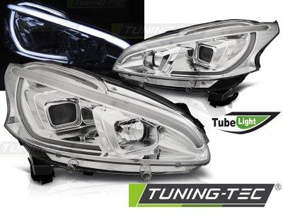 Фары передние Tube Light Chrome от Tuning-Tec на Peugeot 208