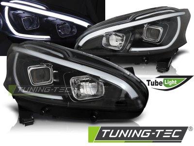 Фары передние Tube Light Black от Tuning-Tec на Peugeot 208