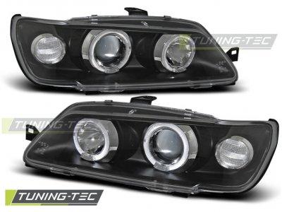 Фары передние Angel Eyes Black от Tuning-Tec на Peugeot 306