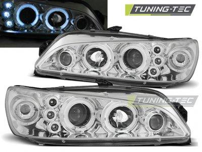 Фары передние LED Angel Eyes Chrome от Tuning-Tec на Peugeot 306