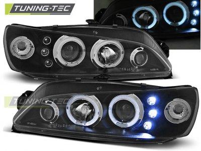 Фары передние LED Angel Eyes Black от Tuning-Tec на Peugeot 306
