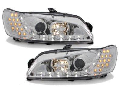 Фары передние LED Dayline Chrome на Peugeot 306 рестайл
