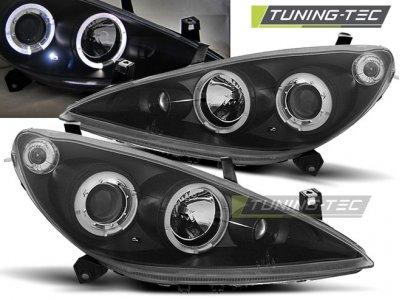 Фары передние LED Angel Eyes Black от Tuning-Tec на Peugeot 307
