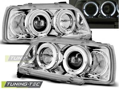 Фары передние Angel Eyes Chrome от Tuning-Tec на Renault Clio I