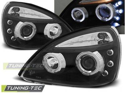 Фары передние Angel Eyes Black от Tuning-Tec на Renault Clio II рестайл