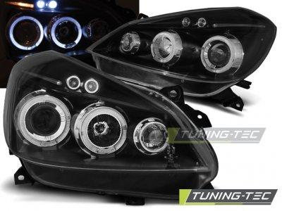 Фары передние LED Angel Eyes Black от Tuning-Tec на Renault Clio III