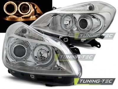 Фары передние Angel Eyes Chrome от Tuning-Tec на Renault Clio III
