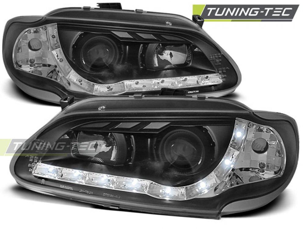 Фары передние Devil Eyes Black от Tuning-Tec на Renault Megane I