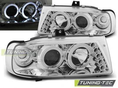 Фары передние Angel Eyes Chrome от Tuning-Tec на Seat Cordoba I