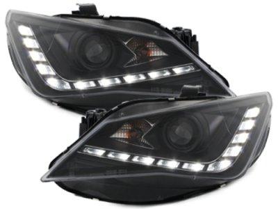 Фары передние Dlite Black на Seat Ibiza 6J рестайл