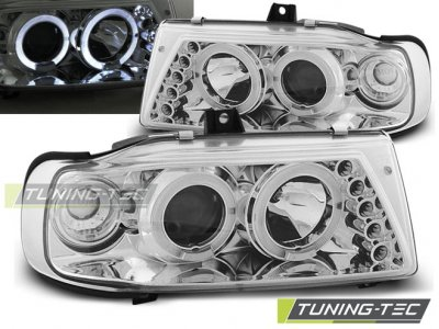 Фары передние Angel Eyes Chrome от Tuning-Tec на Seat Ibiza 6K