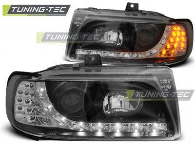 Фары передние Daylight LED Black от Tuning-Tec на Seat Ibiza 6K