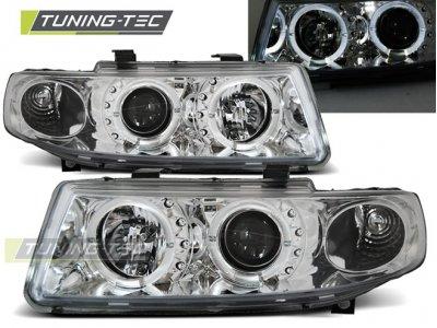 Передние фары LED Angel Eyes Chrome от Tuning-Tec на Seat Leon 1M