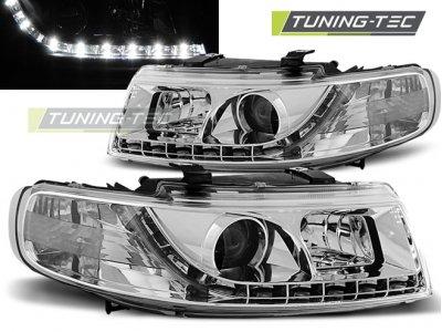 Передние фары Daylight Chrome от Tuning-Tec на Seat Leon 1M