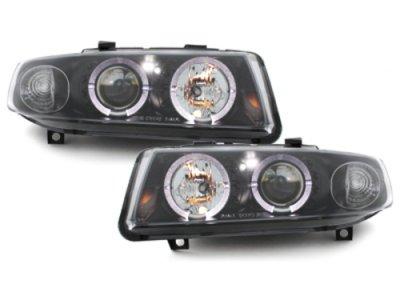 Фары передние LED Angel Eyes Black на Seat Toledo 1M