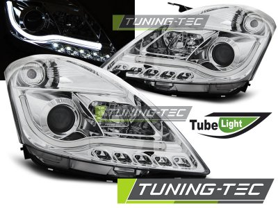 Передние фары Tube Light Chrome от Tuning-Tec на Suzuki Swift III