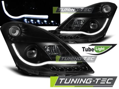 Передние фары Tube Light Black от Tuning-Tec на Suzuki Swift III