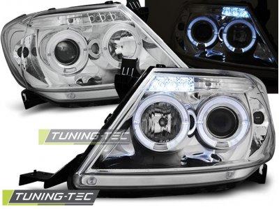 Фары передние Angel Eyes Chrome на Toyota Hilux VII