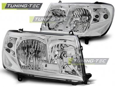 Фары передние Chrome от Tuning-Tec на Toyota Land Cruiser 100 рестайл