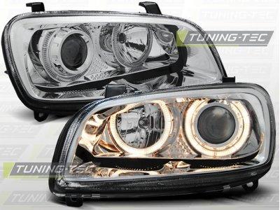 Фары передние Angel Eyes Chrome на Toyota RAV4 XA10