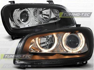 Фары передние Angel Eyes Black на Toyota RAV4 XA10