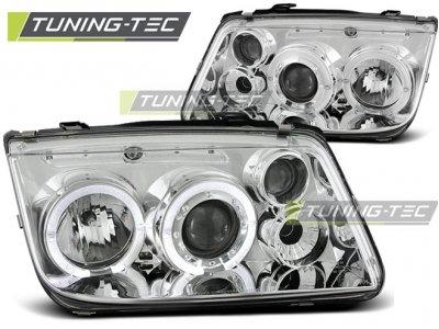 Фары передние Angel Eyes Chrome от Tuning-Tec на Volkswagen Bora