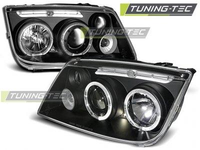 Фары передние Angel Eyes Black от Tuning-Tec на Volkswagen Bora